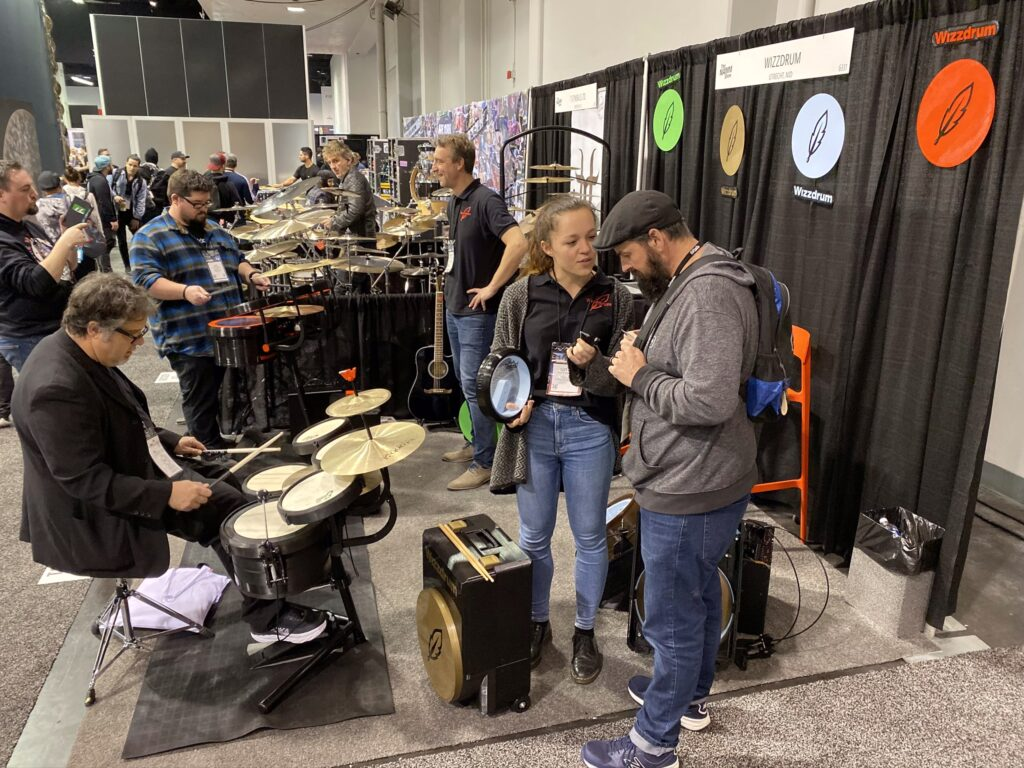 Wizzdrum booth Namm 2020 show